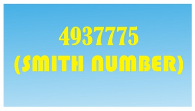 smith number